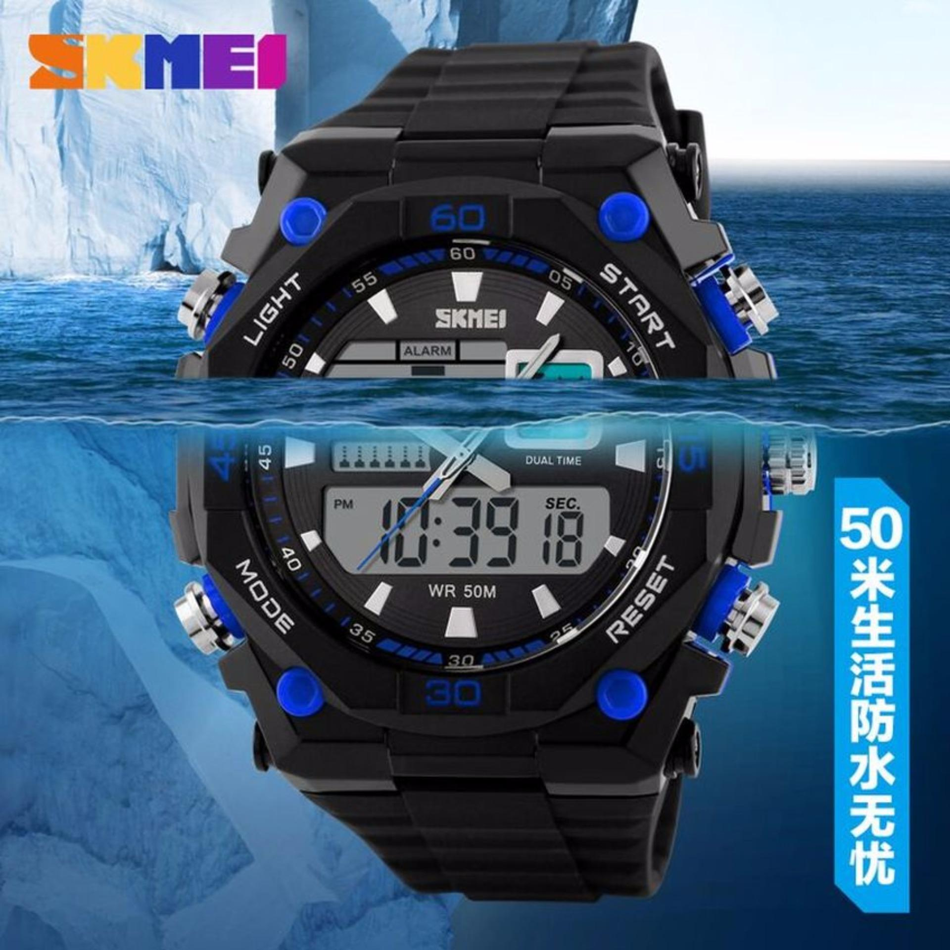 Daftar Harga Skmei Dual Time Casio Men Sport Led Anti Air Water Jam Tangan Pria Resistant Wr 50m Ad1092