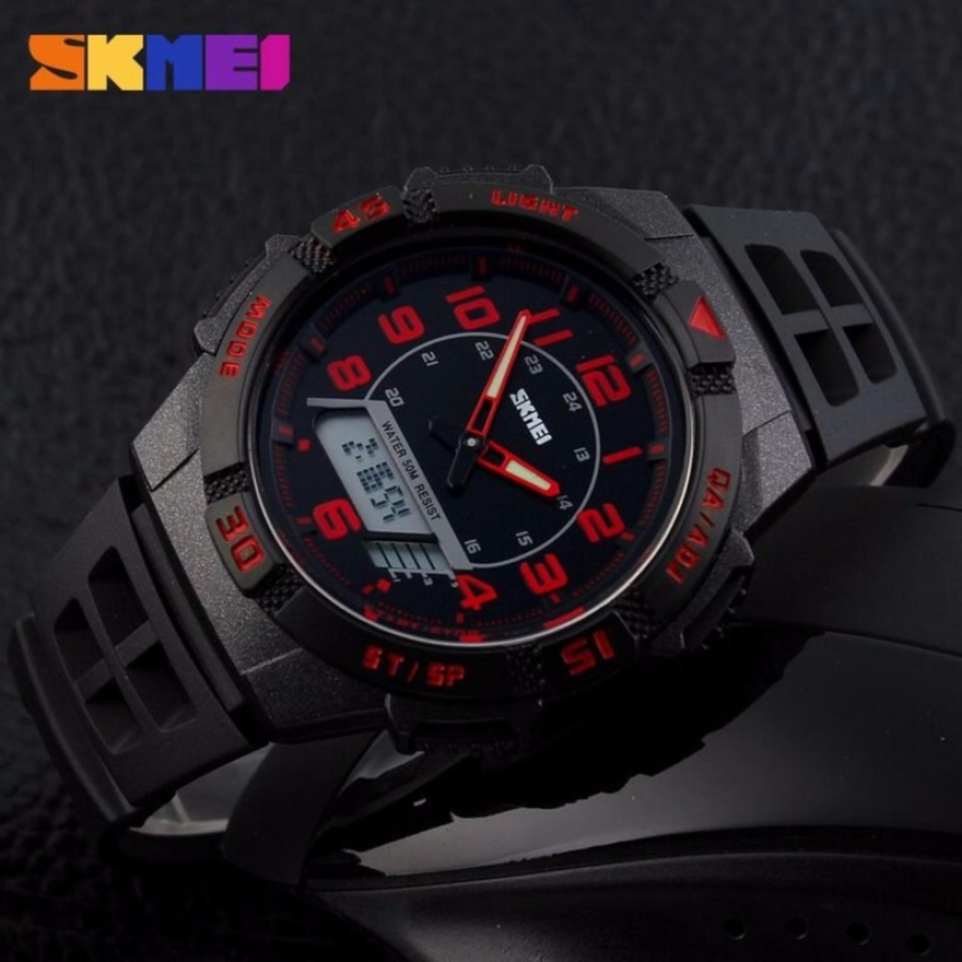 Skmei S Shock Digital Sport Watch Water Resistant 50m Jam Tangan Dg1025 Dual Time Men Led Anti Air Wr Ad1065