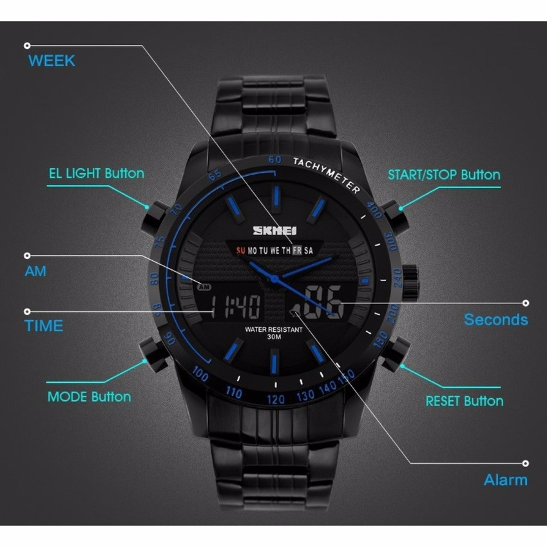 ... Men Sport LED Watch Anti Air Water Resistant WR 30m AD1081 Jam ... Source ... 50m DG0907 Jam Tangan Pria Tali. Source · SKMEI Dual Time Multifunctional .