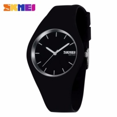 SKMEI Fashion Casual Ladies Watch 9068C Jam Tangan Analog Wanita Water Resistant Anti Air WR 30m Tali Strap Silicone Karet - Hitam