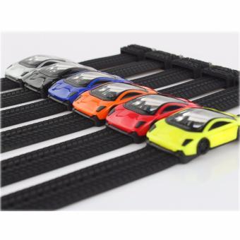 SKMEI - Jam Tangan Anak - Hitam Biru - Rubber Strap - Speed Car Watch - 3