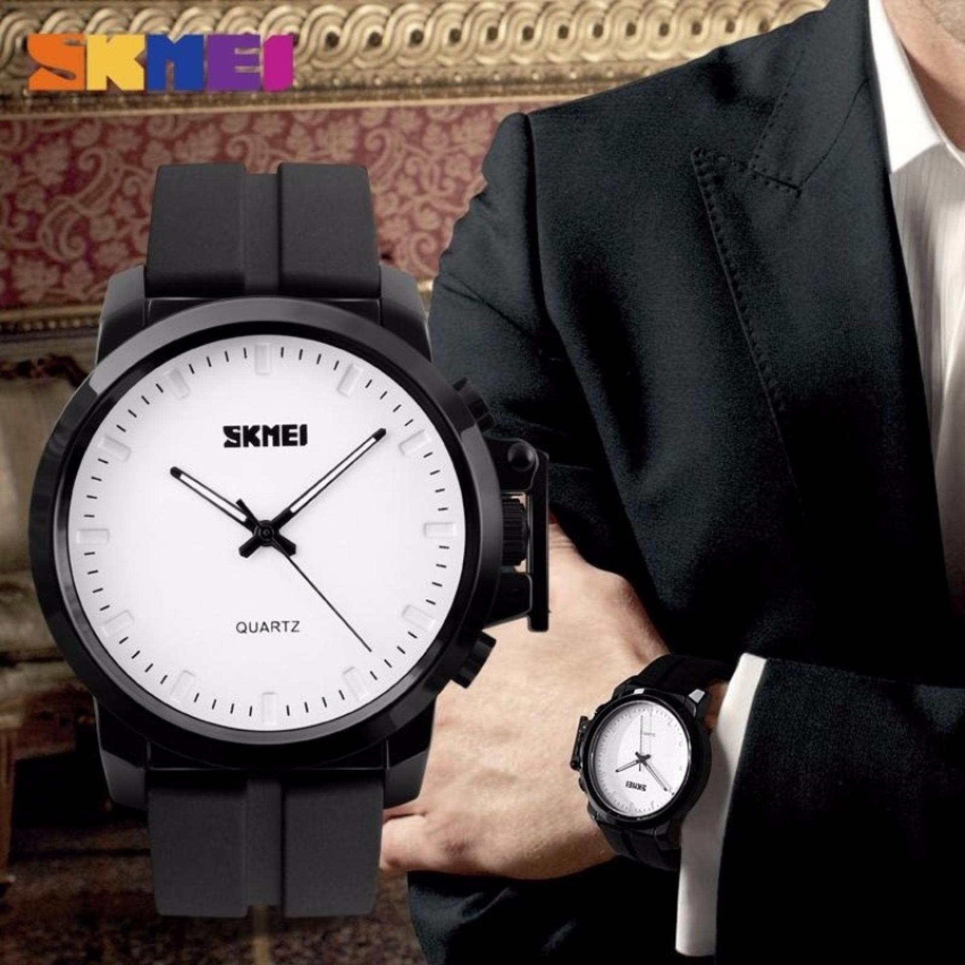 Skmei Jam Tangan Analog Pria Men Casual Watch 1208 Tali Karet Water Resistant 30m Silicone Strap Anti