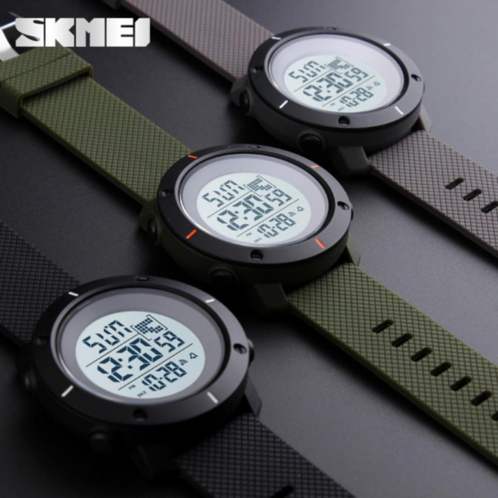 SKMEI Jam Tangan Militer Pria Sport LED Digital Water Resistance -1213 .