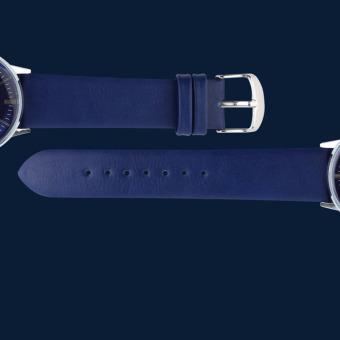 Skmei Jam Tangan Pria Casual Men Leather Strap Tali Kulit Anti Air Water Resistant WR 30m Kerja Elegant Maskulin Fashion Watch 9083CL - Biru - 4