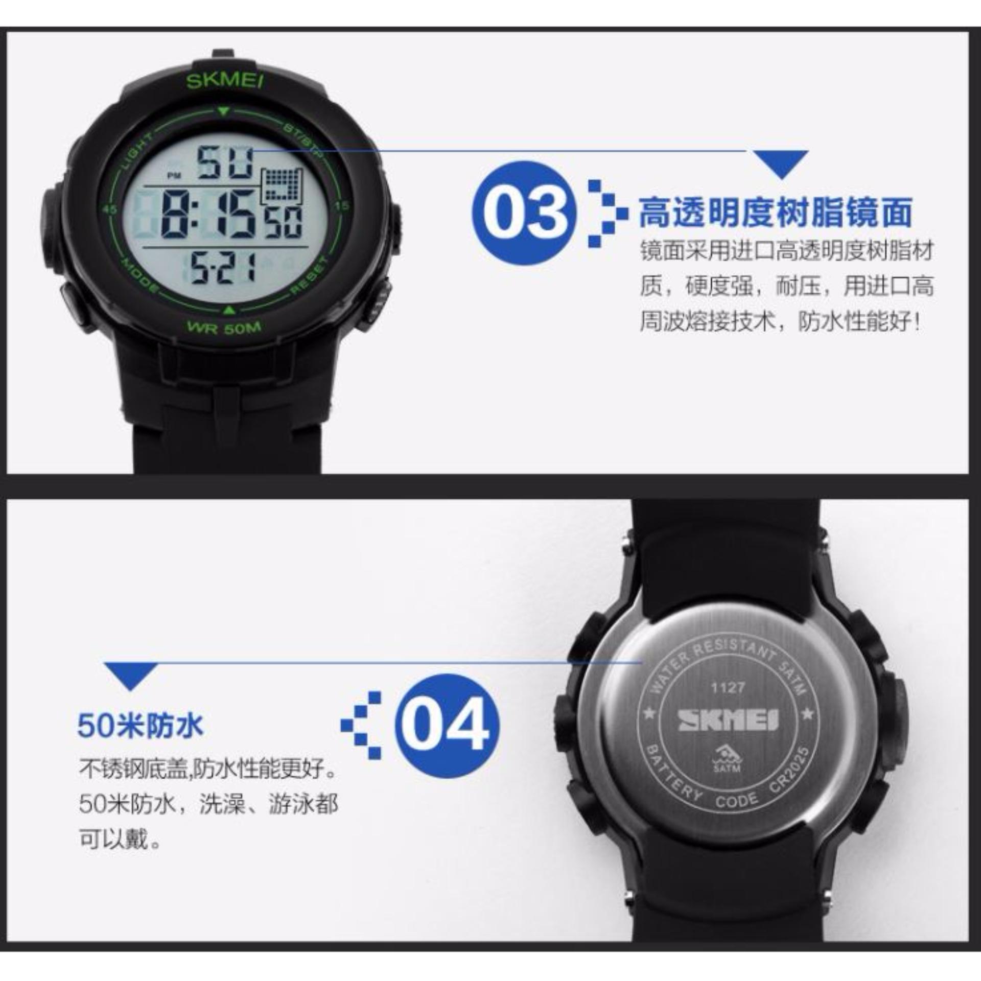 Skmei Trendy Men Sport Led Watch Water Resistant 50m 0814d1 Jam Tangan Pria Casio Ad1109 S Shock 1127 Black