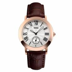 SKMEI Jam Tangan Wanita Fashion Watch Water Resistant 30m Casual Ladies Leather Strap Kulit 1083CL - Coklat