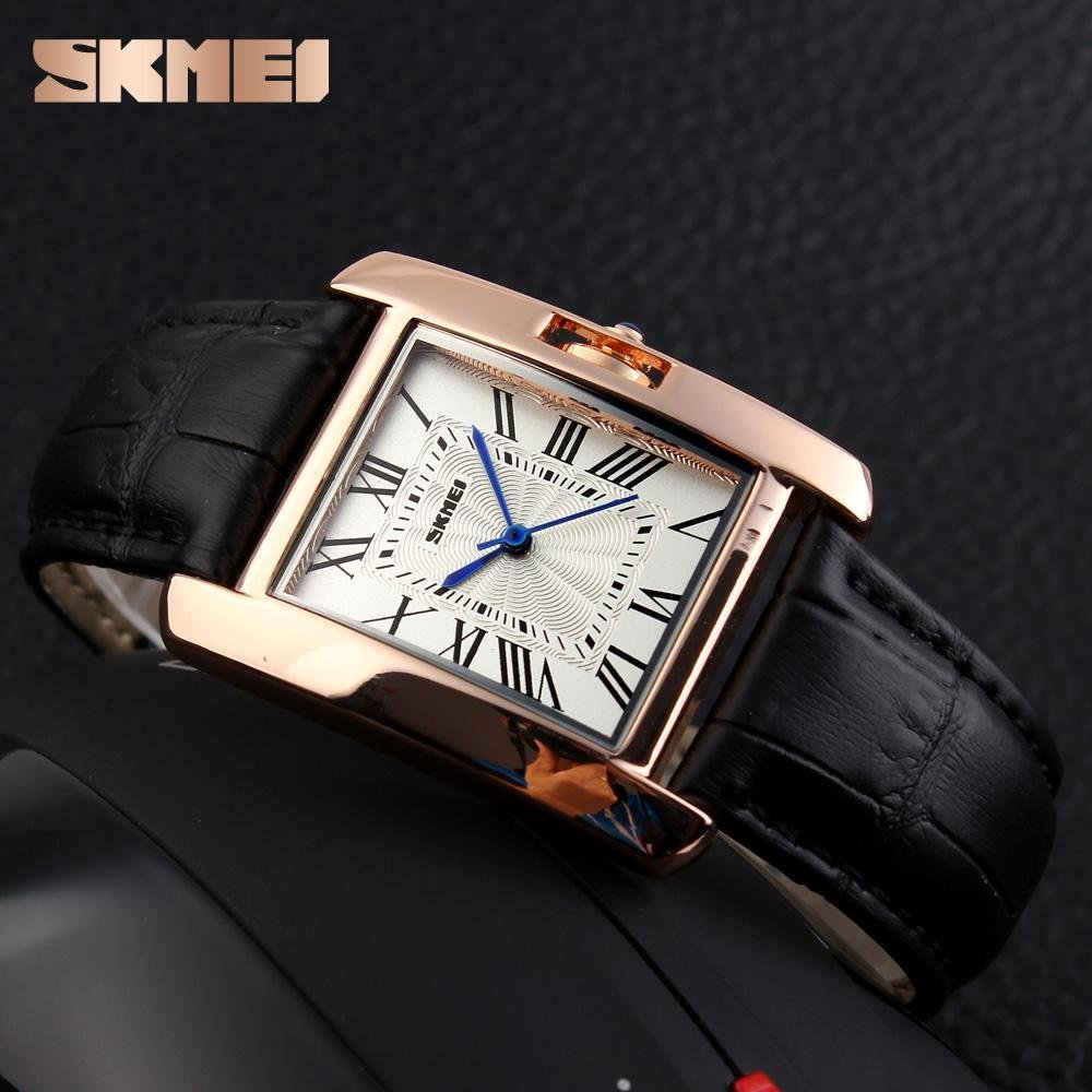 SKMEI merek Watch 1085 Watch Wanita elegan Retro Watches Fashion kasual quartz Watches Jam tangan Clock ...