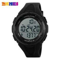 SKMEI Merek Watch 1108 Baru Kasual wanita Watch Pedometer Digital   Pusat Untuk Pria Wanita Kolam Jam Tangan Olahraga Fashion jam tangan