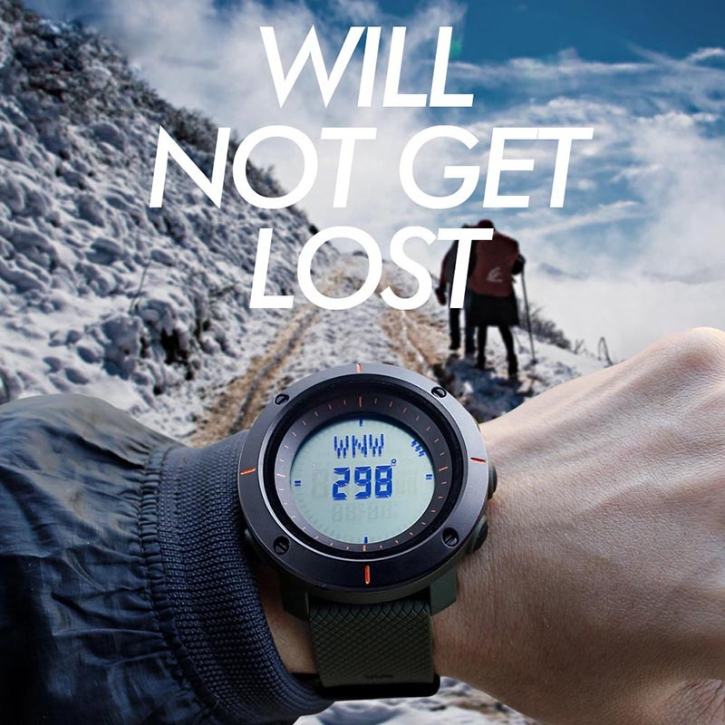 ... SKMEI merek Watch Fashion multifungsi Digital Watch Olahraga Outdoor tahan air jam tangan pria Kompas Countdown ...
