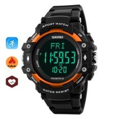 SKMEI merek Watch hidup olahraga jam tangan pria Pedometer detak jantung  Monitor kalori 387bb36cbb