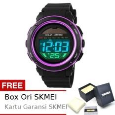 SKMEI Radiant Hitam Ungu - Jam Tangan Wanita - Strap Karet - 1096 Sport Black Purple + Free BOX ORI SKMEI