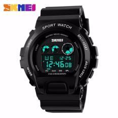SKMEI S-Shock Sport Watch Water Resistant Anti Air WR 50m DG1150 Jam Tangan Pria Digital Tali Strap Karet Silicone Alarm Wristwatch Wrist Watch Fashion Accessories Stylish Sporty Design - Hitam Putih