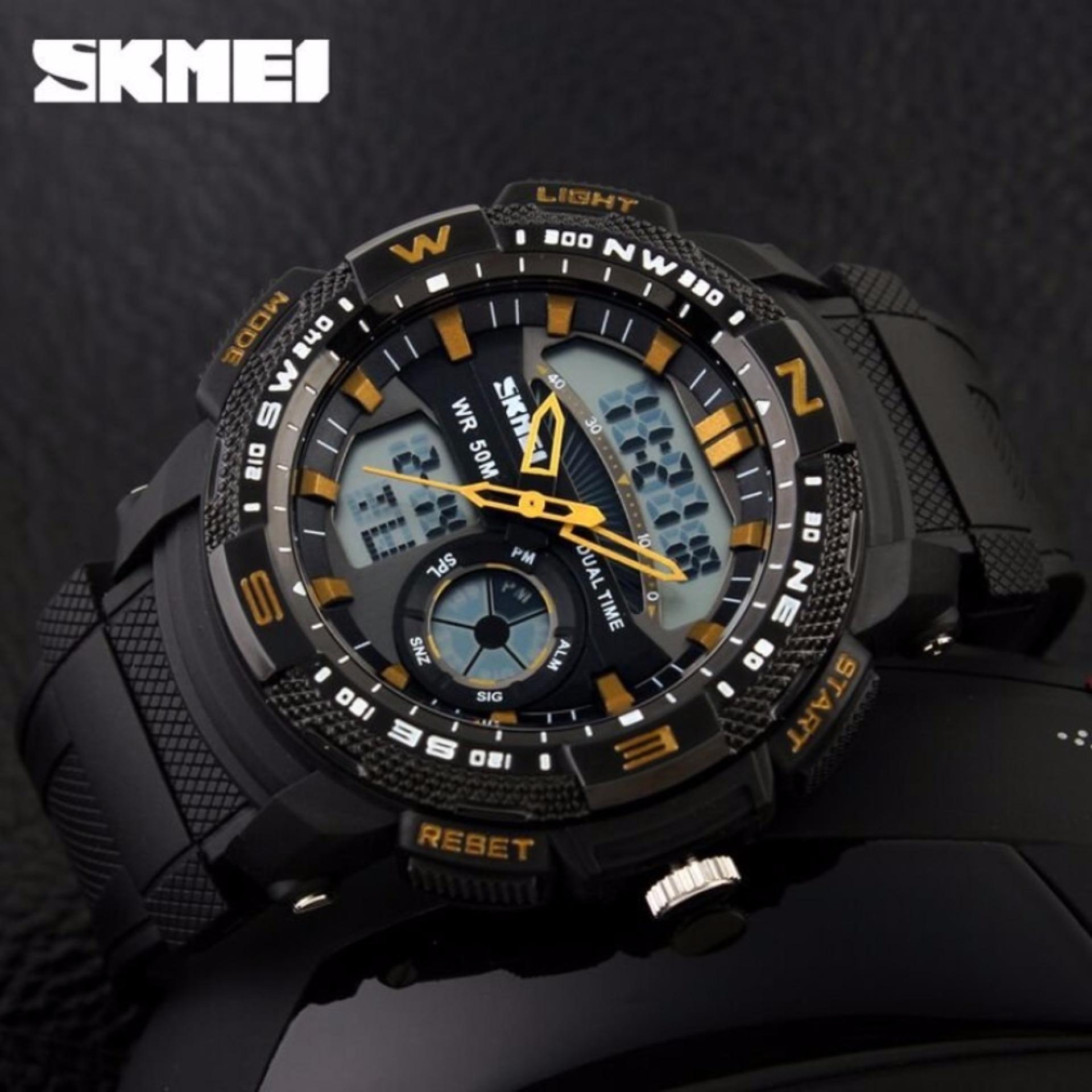 Harga Penawaran Skmei Solar Power Sport Led Watch Water Resistant Jam Tangan Pria 50m Ad1064e Anti Air Wr Ad1109