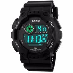 SKMEI Sport Men LED Watch Anti Air Water Resistant WR 50m DG1101 Jam Tangan Pria Tali Strap Karet Day Date Digital Alarm Wristwatch Wrist Watch Fashion ...