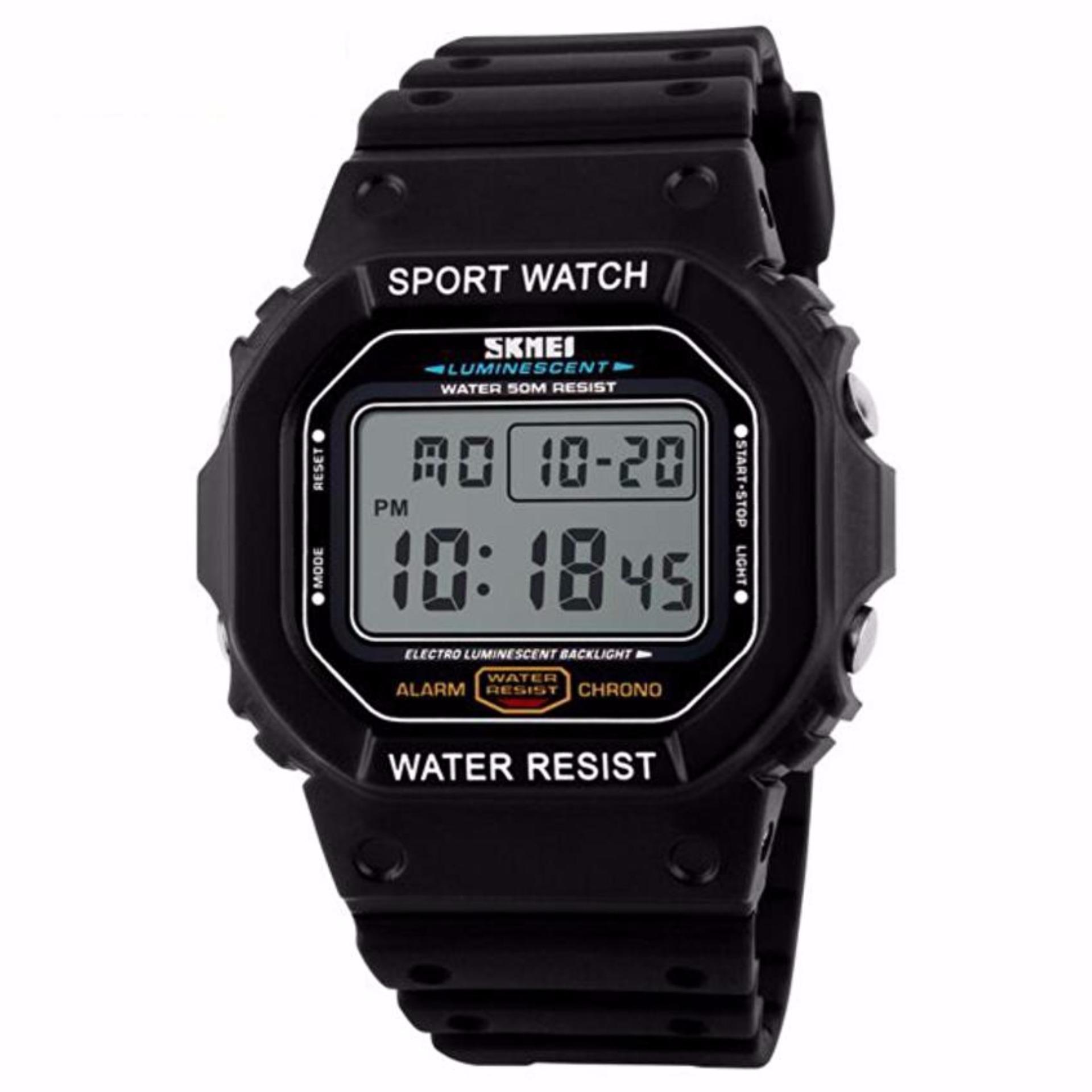 ... SKMEI Sport Men LED Watch Anti Air Water Resistant WR 50m DG1134 Jam Tangan Pria Tali ...