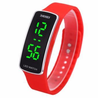 SKMEI Sport Rubber LED Watch 1119 Water Resistant Anti Air WR 50m Jam Tangan Olahraga Gym