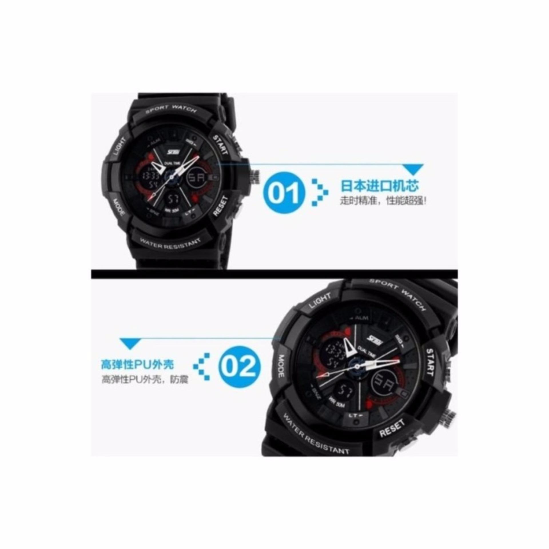 SKMEI Super X Digital LED Sport Watch AD0966 Water Resistant Anti Air WR 50m Jam Tangan