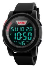SKMEI Trendy Men LED Display Watch Water Resistant 50m DG1218 - Hitam
