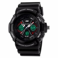 SKMEI X-Ray Hitam - Jam Tangan Pria - Strap Karet - 0966 Sport Black + Free Box Jam Tangan Flash