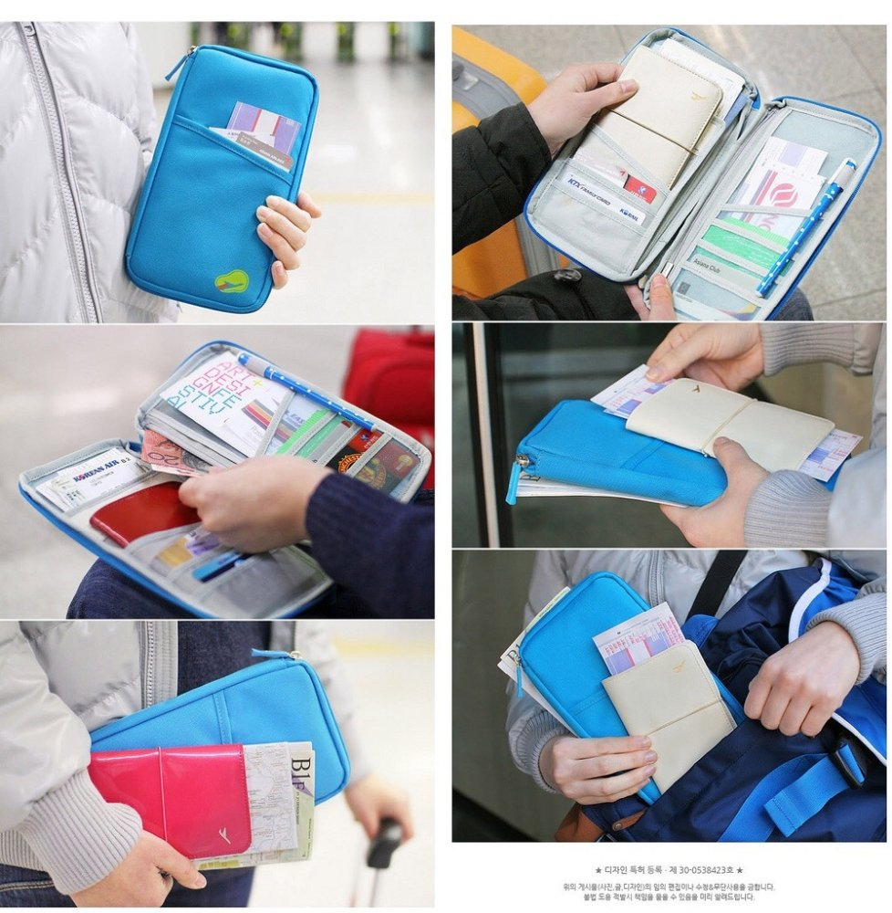 smart korean passport wallet card