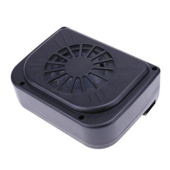 Mobil Tenaga Surya Interior Ventilasi Sistem Auto Udara Vent Cool Fan Cooler (Hitam)