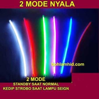 Spextrum Led Drl Flexible 30Cm Lampu Alis Motor 2 Mode Standby +StroboLED Chip Osram