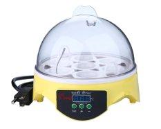 Steker Inggris 7 Telur Mini Kontrol Suhu Digital Otomatis Mengubah Mesin Penetas Telur Hatcher, Kuning & Transparan Niceeshop-Internasional