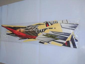 Stiker Bodi & Lis Body & Striping Shogun Sp 2007 Hitam Putih