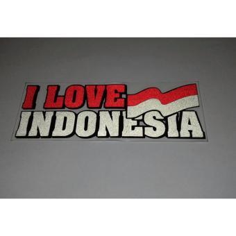 Harga Stiker cutting I Love Indonesia 2 pcs Terbaru klik gambar.