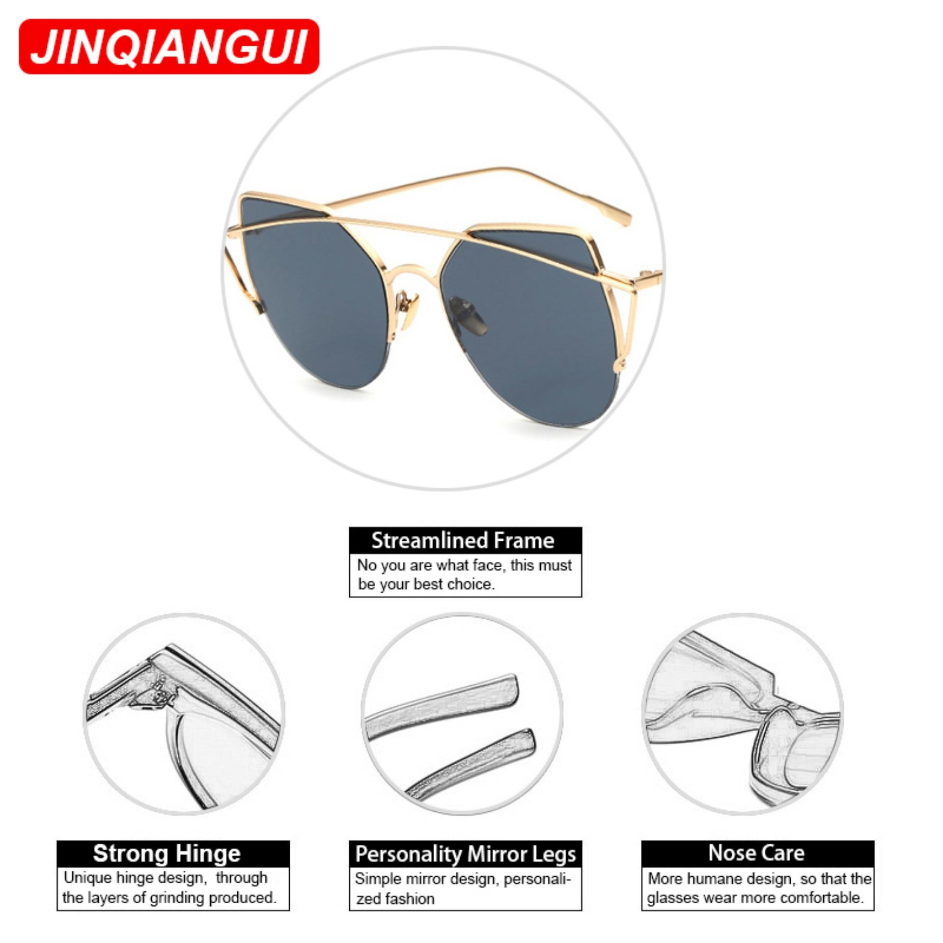 Sunglasses Women Cat Eye Retro GreyGold Color Polaroid LensTitanium Frame Driver Sunglasses Brand Design Original Box ...