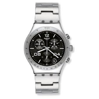 Swatch Blustery Black Women's Chronograph Watch - YCS564G - Intl
