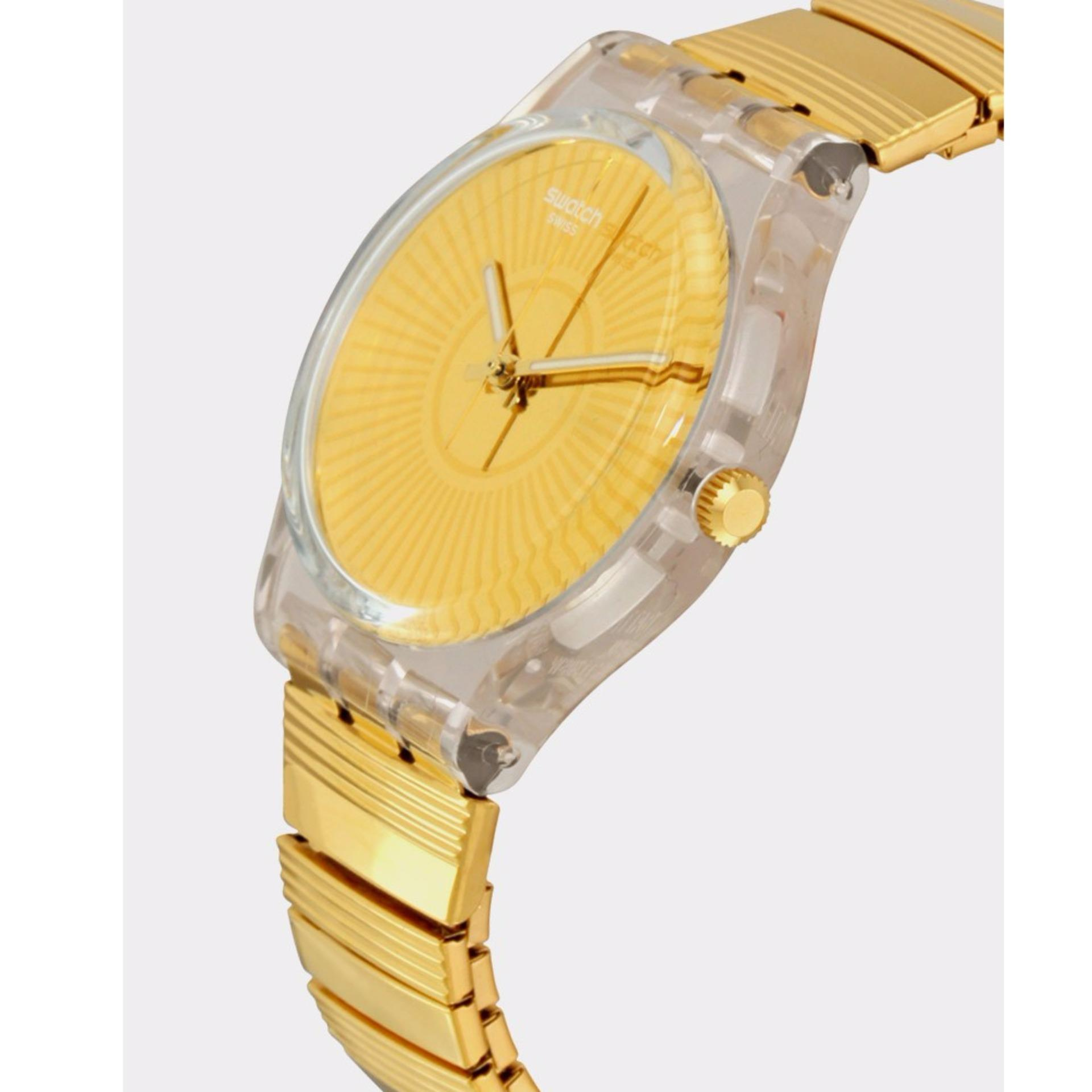 Swatch Jam Tangan Wanita Silver Resin Knit Grey Milanese Sfm118m New Gentleman Suon708 Pria Original Ge244a B Purity Bahan Tali