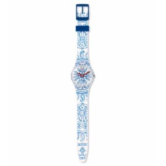 Bandingkan Toko SWATCH GW171 - BLUE POETRY - Jam Tangan Wanita - Bahan Tali Silikon- Putih - Motif Bunga Biru Bandingkan Simpan