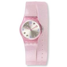 Swatch - Jam Tangan Wanita - Merah Muda-Putih - Rubber Merah Muda - LP132 Brillante