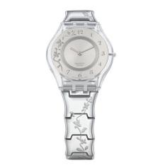 Swatch - Jam Tangan Wanita - Putih-Putih - Stainless Steel - SFK300 Climber Flower