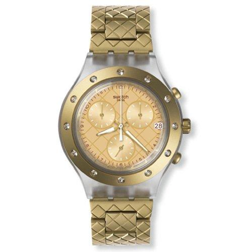 Home; Perhiasan; Jam tangan. Swatch SVCK4082AG Waffel Raffel Chronograph Time-Date Stainless