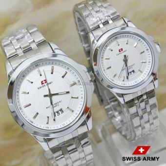 Swiss Army - Jam Tangan Couple -SA 2988 Plat Putih