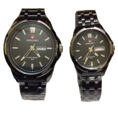Swiss Army Jam Tangan Couple - Stainless Steel - Black - SA1575 Black