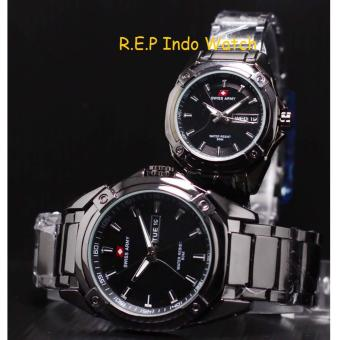 Swiss Army - Jam Tangan Couple - Stainless Steel - SA 1157 Silver