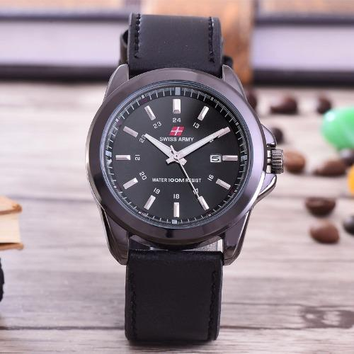 Bc Source Brown Source Swiss Army Jam Tangan Pria Body Black Black Dial .