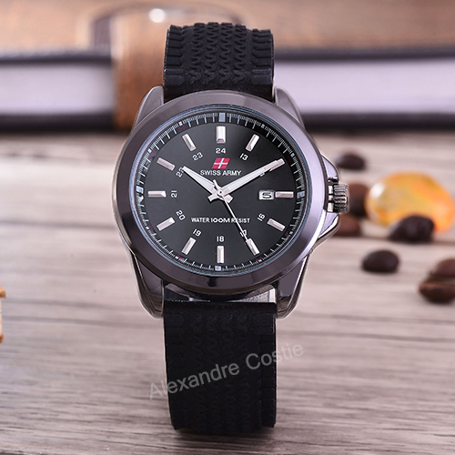 Swiss Army - Jam Tangan Pria - Body Black - Black Dial -