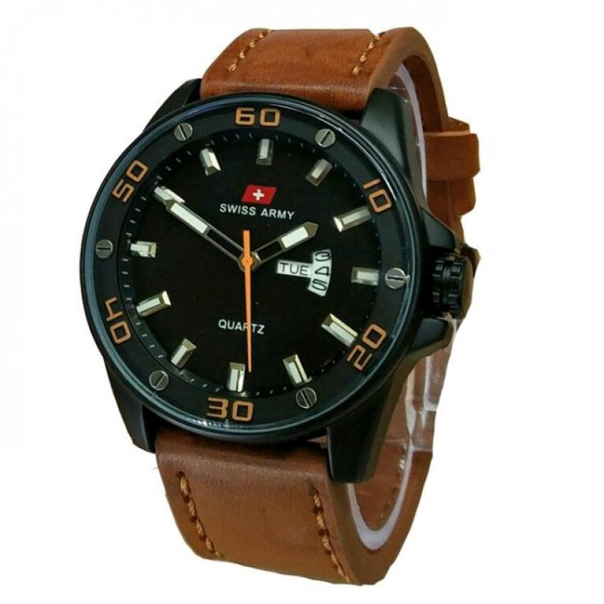 Swiss Army Jam Tangan Pria Body Black Brown Dial Coklat Tua Source · Swiss Army Jam