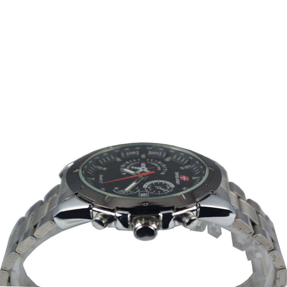 Swiss Army - Jam Tangan Pria - Silver - Stainless Steel Band -