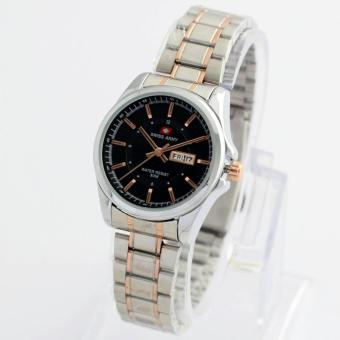 swiss army jam tangan wanita SWMoe121a stainless steel-hari&tanggal aktif