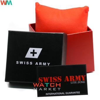 Gambar Produk Rinci Swiss Army LZ001- Jam Tangan Pria - Tali Kulit Coklat Terkini