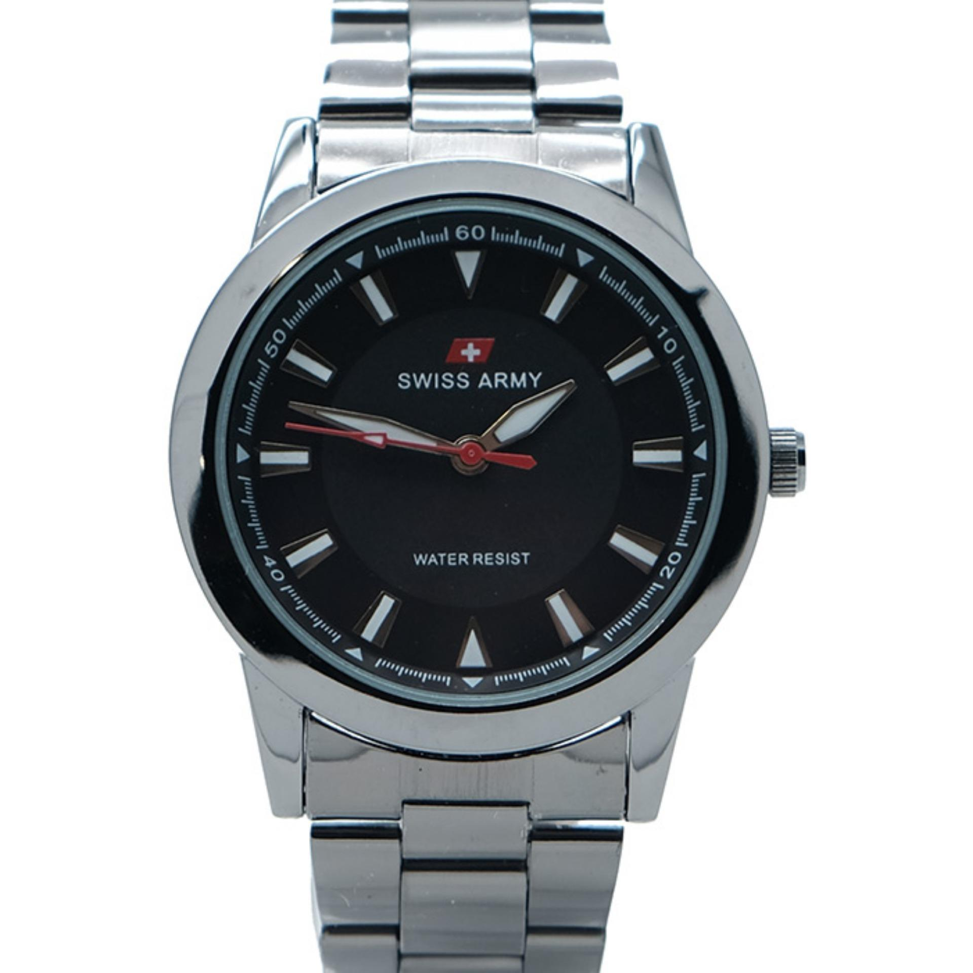 Special Offer Swiss Army Mens Jam Tangan Pria Sa 5171 M Body Silver X002211334 Dual Time