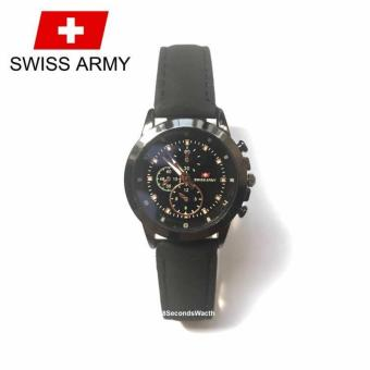 Swiss Army Original High Quality - Jam Tangan Wanita - Hitam - Strap Kulit - SAL
