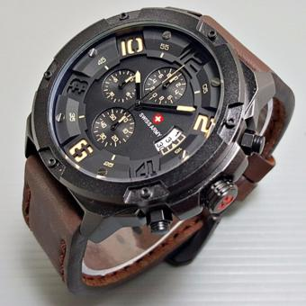 Rp 349.000. CEK HARGA DISKON 🡲. Swiss Army D47H280SA6015MH Casual Men's Chronograph Canvas Strap Jam Tangan Pria