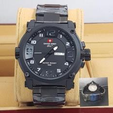 Swiss Army ORY Dimention Fitur Tanggal Aktif  Casual Date Jam Tangan Pria Black Terbaru