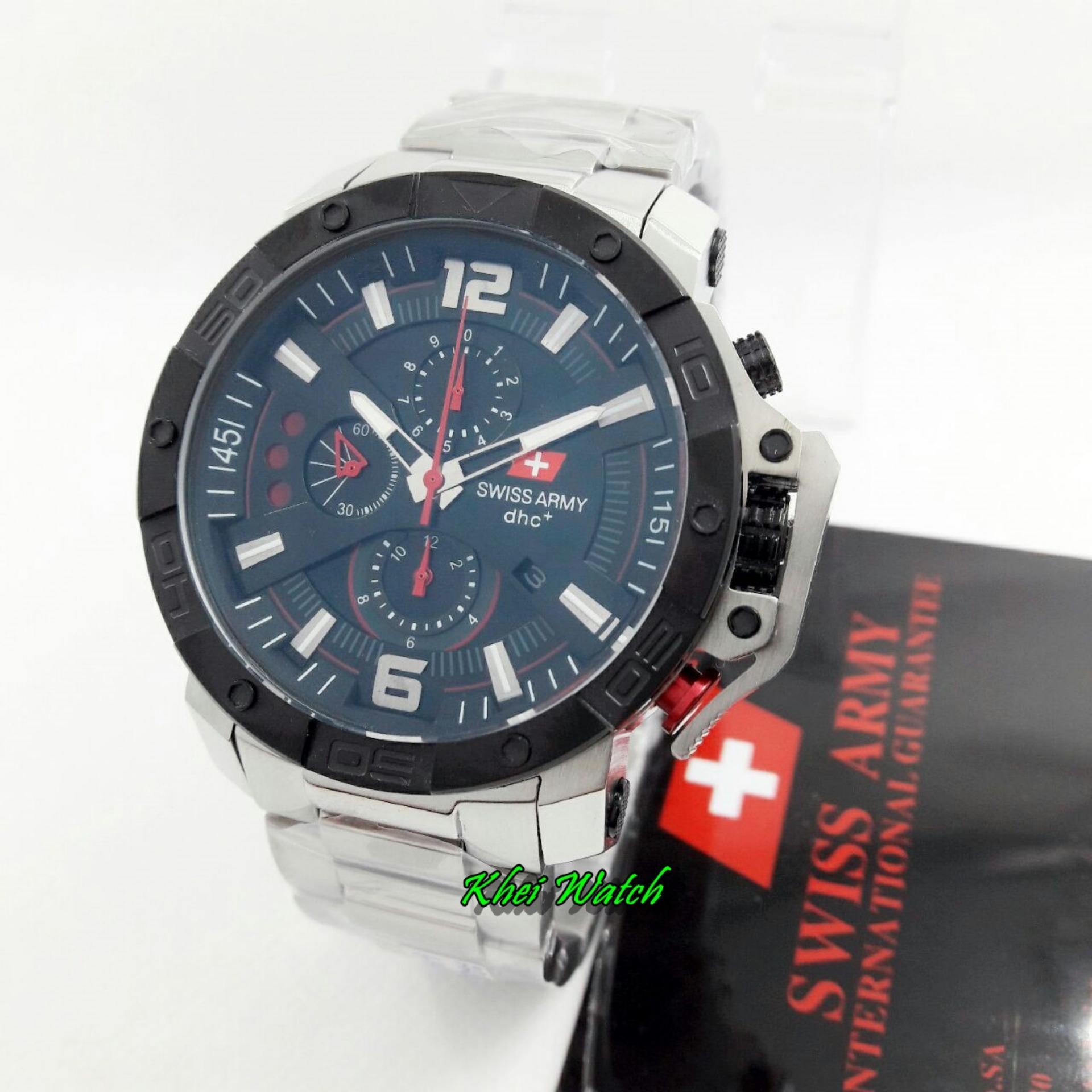 Harga Saya Swiss Army Sa2288 Chrono Jam Tangan Pria Original Flash Sale Stainlessteel Strap